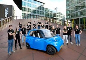 Researchers in the Netherlands unveiled the world's first car made from 100 percent biobased materials. Image credit: Total Corbion PLA