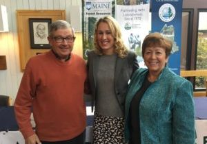 From left: Jim Robbins, former president and fourth generation owner of Robbins Lumber, Charlotte Mace, executive director of Biobased Maine, and Patty Daigle, selectman in East Millinocket and retired town and city manager for four different paper mill communities, including Millinocket, Old Town, East Millinocket, and Lincoln.