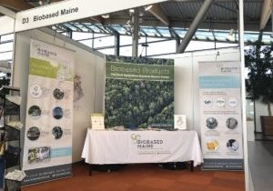 The Biobased Maine booth at World Bio Markets 2018 in Amsterdam.